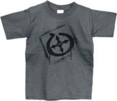 The Only Way Out Youth Christian T-Shirt in Gray