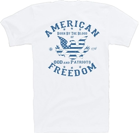 Stars & Stripes Eagle Freedom Patriotic T-Shirt BW