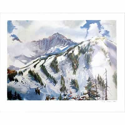 Arapahoe Basin, CO Poster Signed By Cecile Johnson