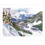 Peru Ridge in Keystone Ski Poster By Cecile Johnson