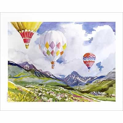 Snowmass, CO Balloons Poster Signed By Cecile Johnson