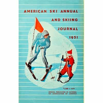American Ski Annual and Skiing Journal 1951 Book, 256 Pages