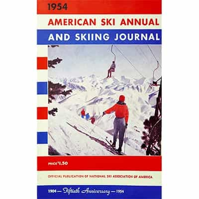 American Ski Annual and Skiing Journal 1954 Book