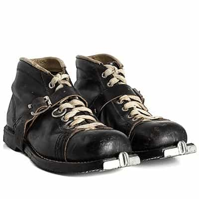 1950s Sandler Lace Antique Ski Boots