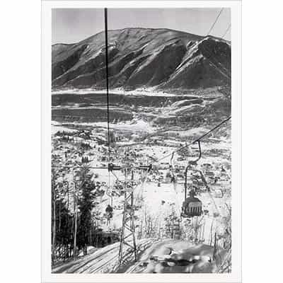 Aspen Lift 1A Greeting Card