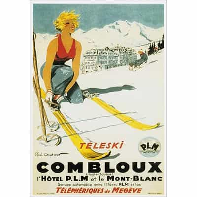 Combloux Teleski Greeting Card