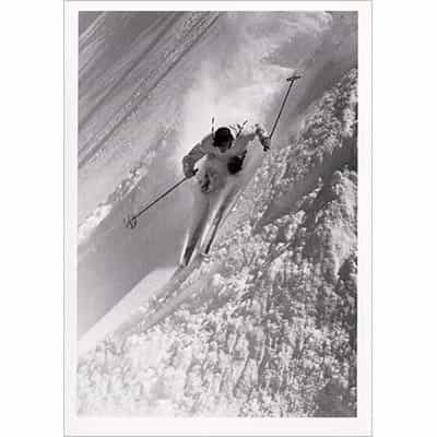 Dick Durrance Skiing Alta Greeting Card