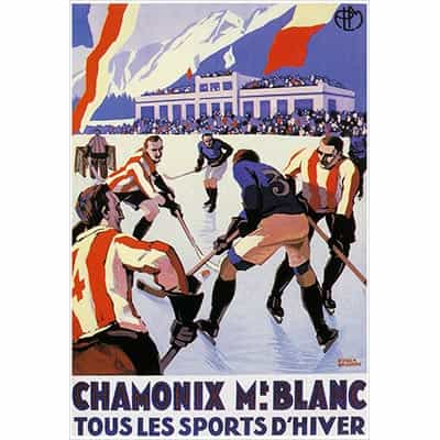 Chamonix Hockey Postcard