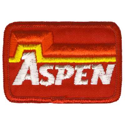 Aspen Colorado Ski Area Vintage White and Red Patch