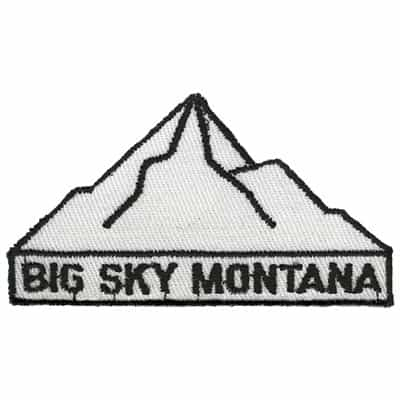 Big Sky Montana Black and White Collector Ski Patch