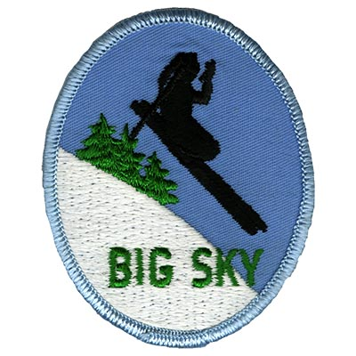 Big Sky Montana Skier Embroidered Ski Patch