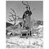 Mike Magnifico With his Buck On Lift One Photo (5 Sizes)