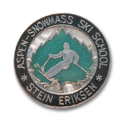 The Late Stein Eriksens Coveted Snowmass Ski School Vintage Pin