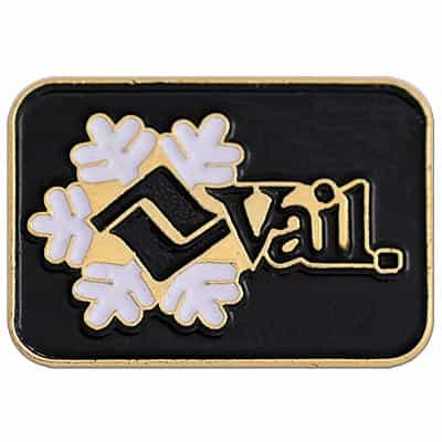 Vail Ski Area Vintage Pin Black