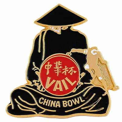 Vail China Bowl Figure Vintage Ski Pin