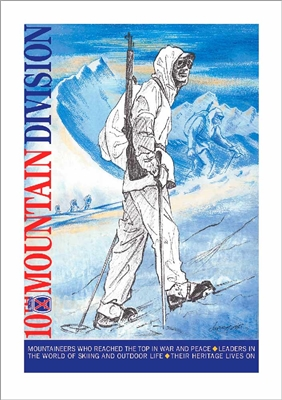 Soldier In Italy 10th Mtn Division Poster, Unsigned & Signed by Artist 18 x 24""