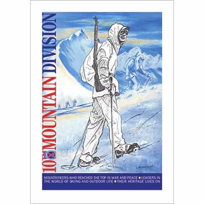 Soldier In Italy, 10th Mtn Div Poster, Quality Giclée Print (3 Sizes)