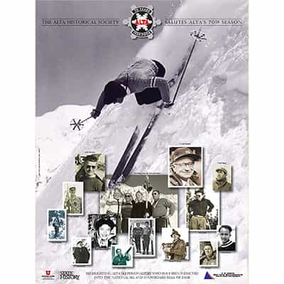 Ski Poster Celebrating Alta 70th Anniversary. Size 18 x 24 inches.