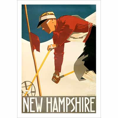 New Hampshire Ski Poster
