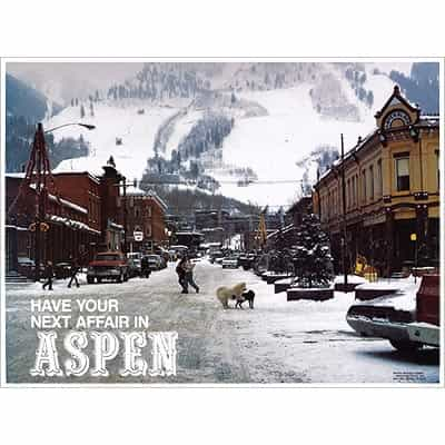 Have Your Next Affair in Aspen Original Ski Poster