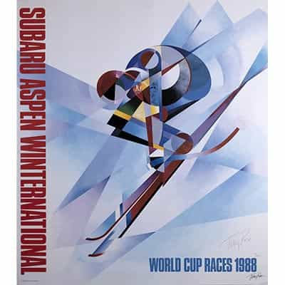 Aspen World Cup Race Original Ski Poster 1988