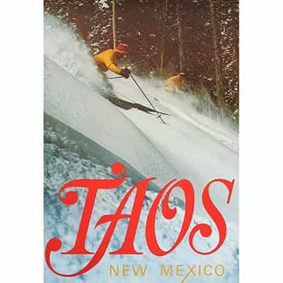 Taos Original Poster 1960s Powder Day