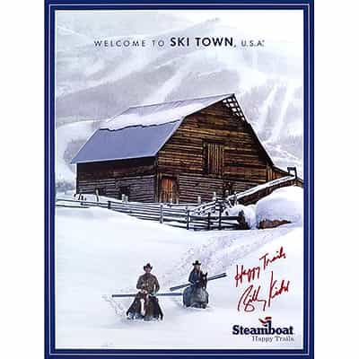 Steamboat Barn Ski Poster Signed by Billy Kidd