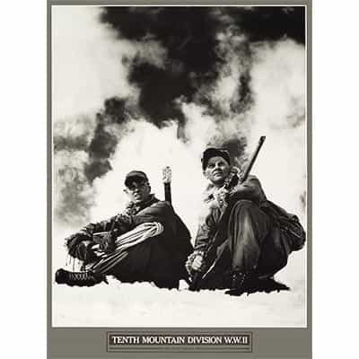 10th Mountain Division High Alpine Troopers Ski Poster 16 x 22 inches