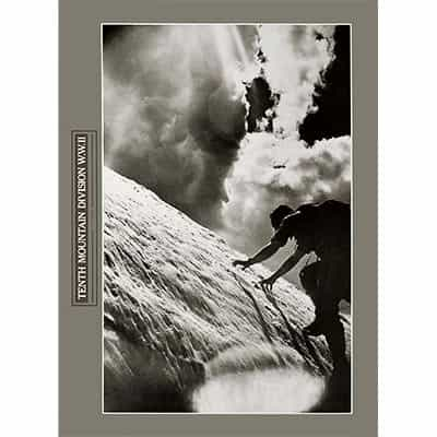 Ice Climbing 10th Mountain Division Poster 16 x 22 inches