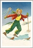 1930s Ski Poster of Blonde Skier (2 Sizes)