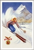 Flexible Flyer Ski Poster Skier