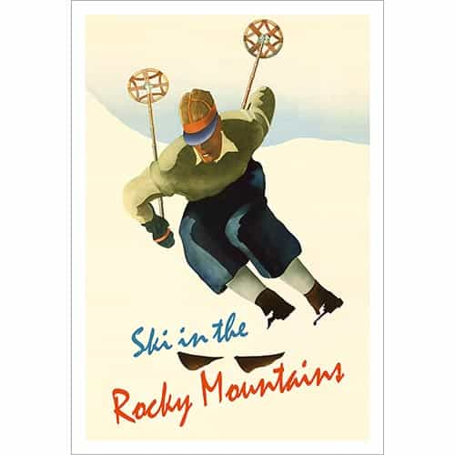 Ski In The Rocky Mountains Ski Poster