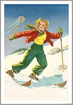 1930s Ski Photo of Blonde Skier (2 Sizes)