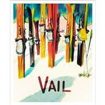Vail Vintage Art Deco Skis Photo