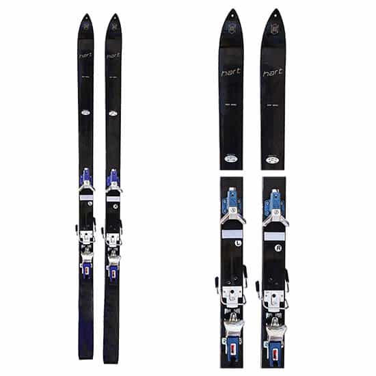 1960s Hart Metal Vintage Skis with Salomon Bindings