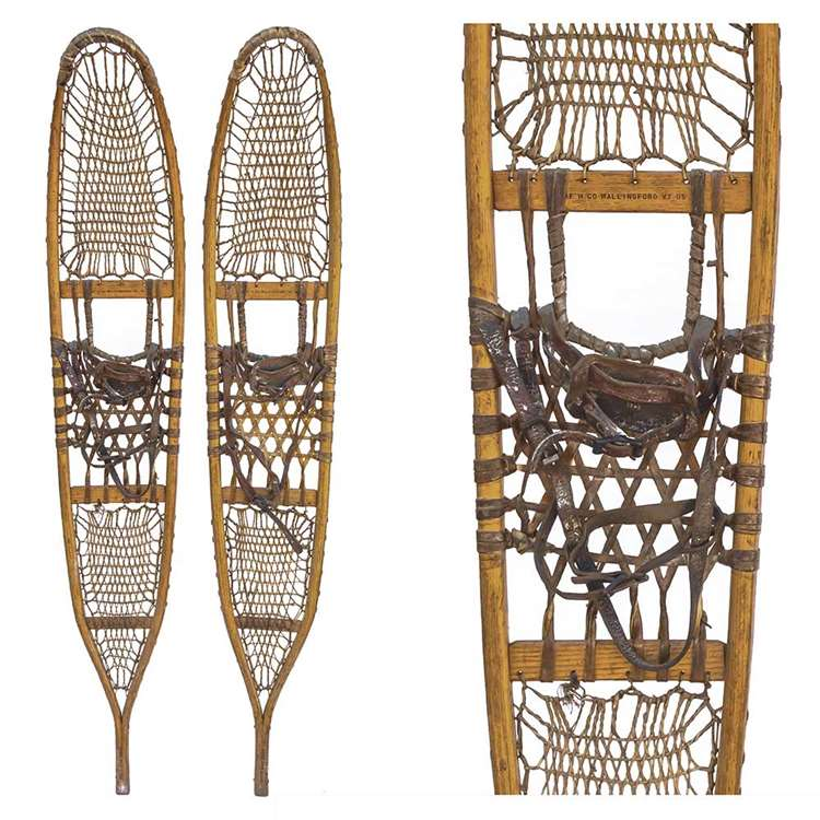 1943 American Fork and Hoe 10th Mountain Division Vintage Snowshoes