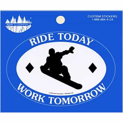 Ride Today Sticker Snowboard Blue