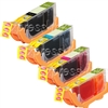 Canon CLI-221 4-Pack Ink Combo 2946B004,CLI-221VPK