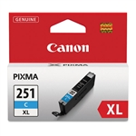 Canon CLI-251XL Genuine Cyan Ink 6449B001