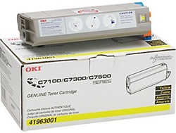 Okidata 41963001 Genuine Yellow Toner Cartridge Type C4