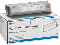 Okidata 41963003 Genuine Cyan Toner Cartridge Type C4