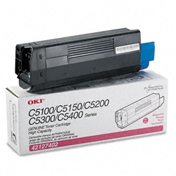 Okidata 42127402 Genuine Magenta Toner Cartridge Type C6