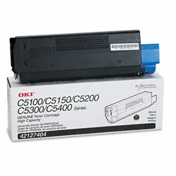 Okidata 42127404 Genuine Black Toner Cartridge Type C6