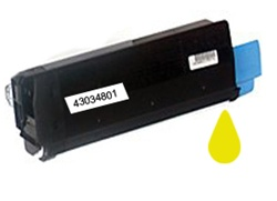Okidata 43034801 High Yield Yellow Toner Cartridge