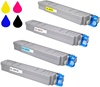 Okidata Color Laserjet C8800 4-Pack Toner Cartridge Combo