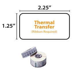 Zebra 800272-125 Thermal Transfer Label Paper
