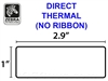 Zebra LD-R3TU5B Direct Thermal White Label Paper