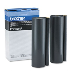 Brother PC102RF 2-Pack Genuine Thermal Fax Ribbon Refill Rolls PC-102RF