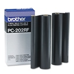 Brother PC202RF 2-Pack Genuine Thermal Fax Ribbon Refill Rolls PC-202RF