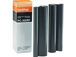 Brother PC302RF 2-Pack Genuine Thermal Fax Ribbon Refill Rolls